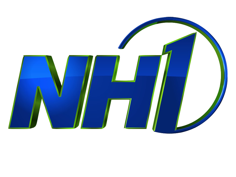 Blue and green NH1 News logo against white background.